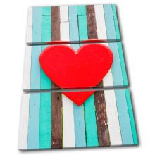Wooden Heart  Fence Red Love - 13-0554(00B)-TR32-PO